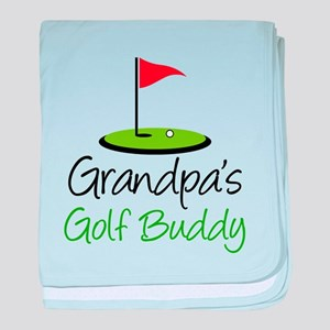 Grandpa's Golf Buddy baby blanket